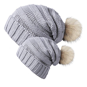 Chalier Slouchy Winter Beanie Hats for Mom and Baby photo