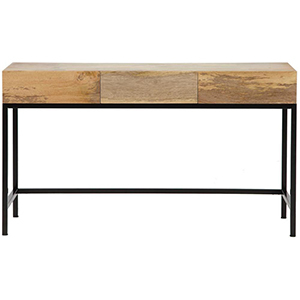 Black and brown wooden storage desk from The Home Depot photo