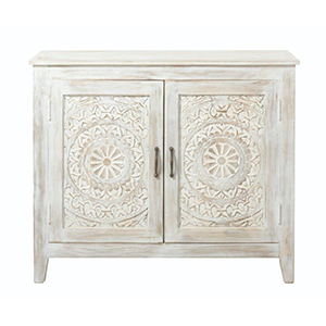White wooden nightstand from The Home Depot photo