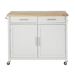 White kitchen cart from The Home Depot photo