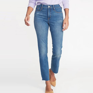 High-waist straight-leg jeans from Old Navy photo