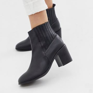 Black Chelsea ankle boots from ASOS photo