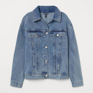 Blue denim jacket from H&M photo