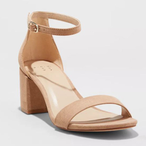 Mid block heels in beige from Target photo