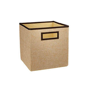 Tan and brown ClosetMaid storage drawer from The Home Depot photo