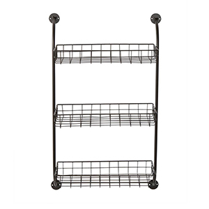 Three-shelf wire storage rack from The Home Depot photo