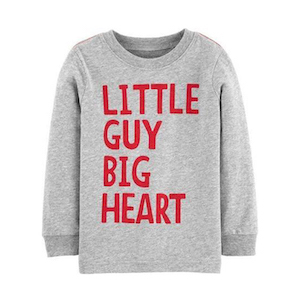 Carter's Baby Valentine's Day Little Guy Big Heart Jersey Tee photo