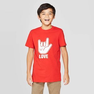 Cat & Jack Boys' Valentine's Day Short Sleeve Graphic T-Shirt photo