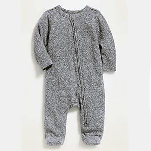 Gray one-piece for a baby from Old Navy photo