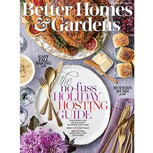 November 2019 cover of Better Homes & Gardens magazine with a Thanksgiving table photo