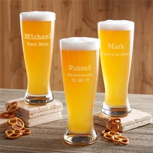 Groomsmen 20 oz Personalized Beer Pilsner Glass from Personalization Mall photo