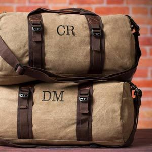 Canvas Duffle Bag, Personalized Groomsmen Gift from Etsy photo