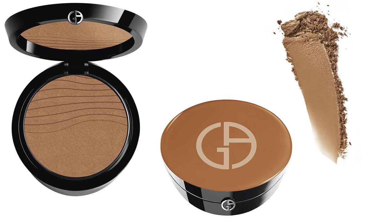 Two makeup compacts with finishing powder from Giorgio Armani photo