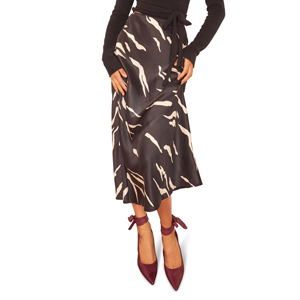 Animal print black and white midi skirt by Reformation from Nordstrom photo