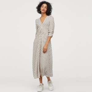 Black and white polka dot dress from H&M photo
