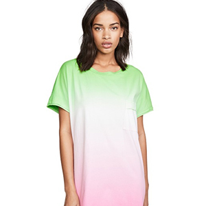 T-shirt dress with neon ombre design from shopbop photo