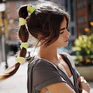 Neon hair tie pack from Free People photo