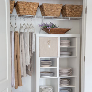 Closet cubies and baskets. photo