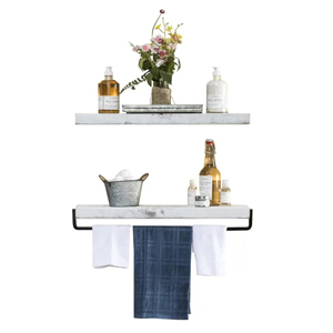 Two-piece floating shelves from Wayfair photo