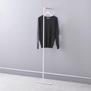 Leaning coat rack in black and white from West Elm photo