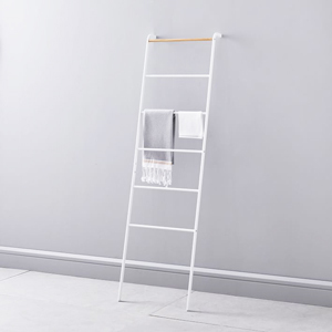 Ladder towel rack in white and black from West Elm photo