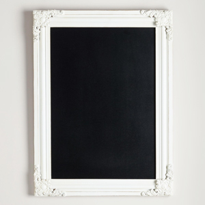 Black chalkboard with white frame from World Market photo