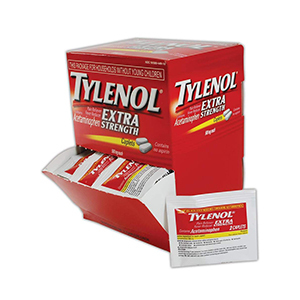 Red package of Tylenol Extra Strength pain reliever tablets from Amazon photo