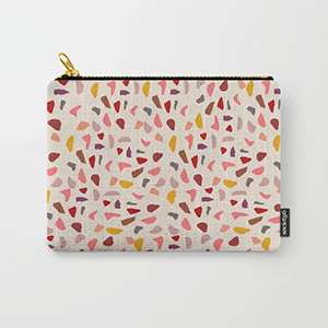 Multicolored carry-all pouch from Society6 photo
