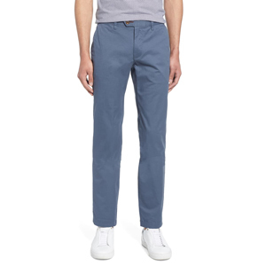 Ted Baker London mid-blue slim fit chinos photo