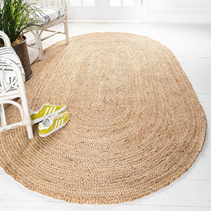 Oval Hand-Braided Natural Area Rug from Wayfair photo