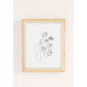 Woman with flowers III art print from Urban Outfitters photo