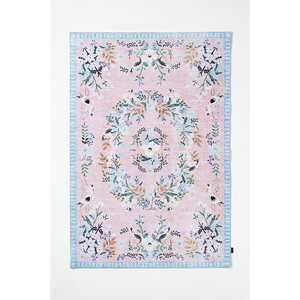 Rifle Paper Co. pastel floral rug from Anthropologie photo