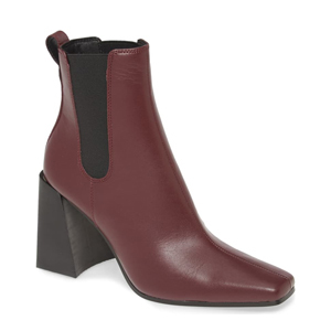 Topshop burgundy square-toe bootie with block heel from Nordstrom photo