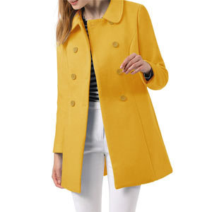Woman in yellow coat from Amazon. photo