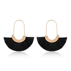Black statement earrings from Amazon photo