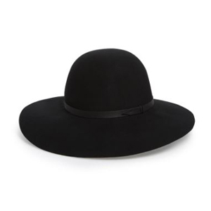Black wool floppy hat from Nordstrom photo