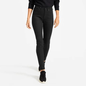 Black high-rise skinny jeans from Everlane photo