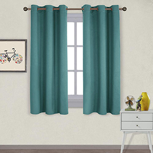Teal blackout curtains from Amazon photo
