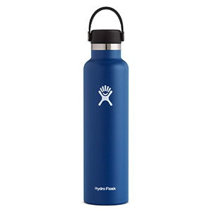 Tall navy blue Hydro Flask water bottle from Amazon photo