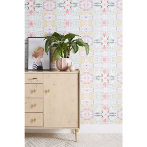 Synchronized wallpaper in pastel colors from Anthropologie photo