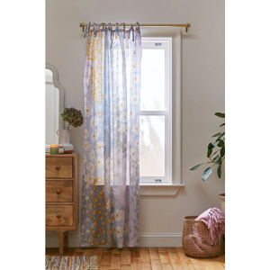 Mixed floral window panel in pastel purple from Urban Outfitters photo