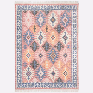 Colorful framed arrows area rug from West Elm photo