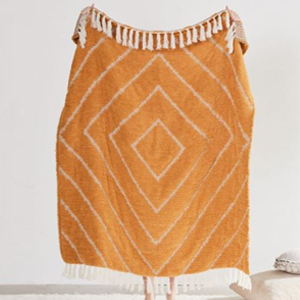 Gold sherpa throw blanket from Urban Outfitters photo