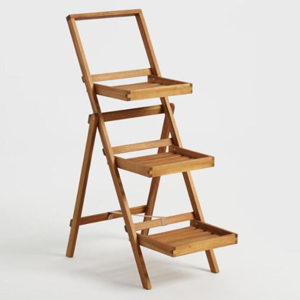 Three-tier folding plant stand from Cost Plus World Market photo