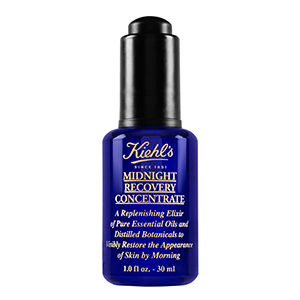 Blue and black bottle of Kiehl's Midnight Recovery Concentrate photo