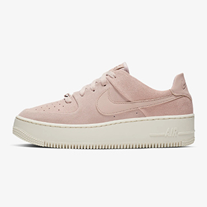 Light pink Nike Air Force 1 sneakers photo