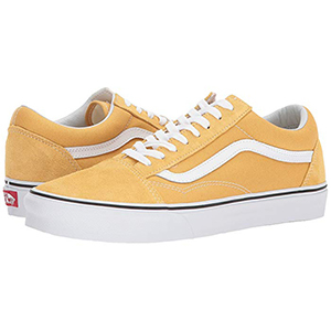 Yellow and white Vans sneakers from Zappos photo