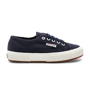 Navy blue and white Superga 2750 COTW sneakers from Revolve photo