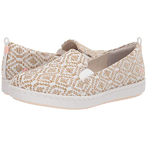 Brown and white patterned slip-on Clarks shoes from Zappos photo