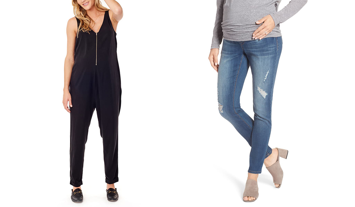 Black jumper with front zipper from Nordstrom and Destructed skinny jeans from Nordstrom photo
